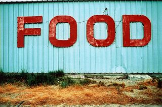 FOOD sign Calif