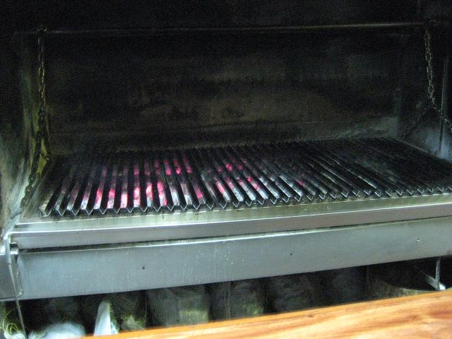Empty parrilla